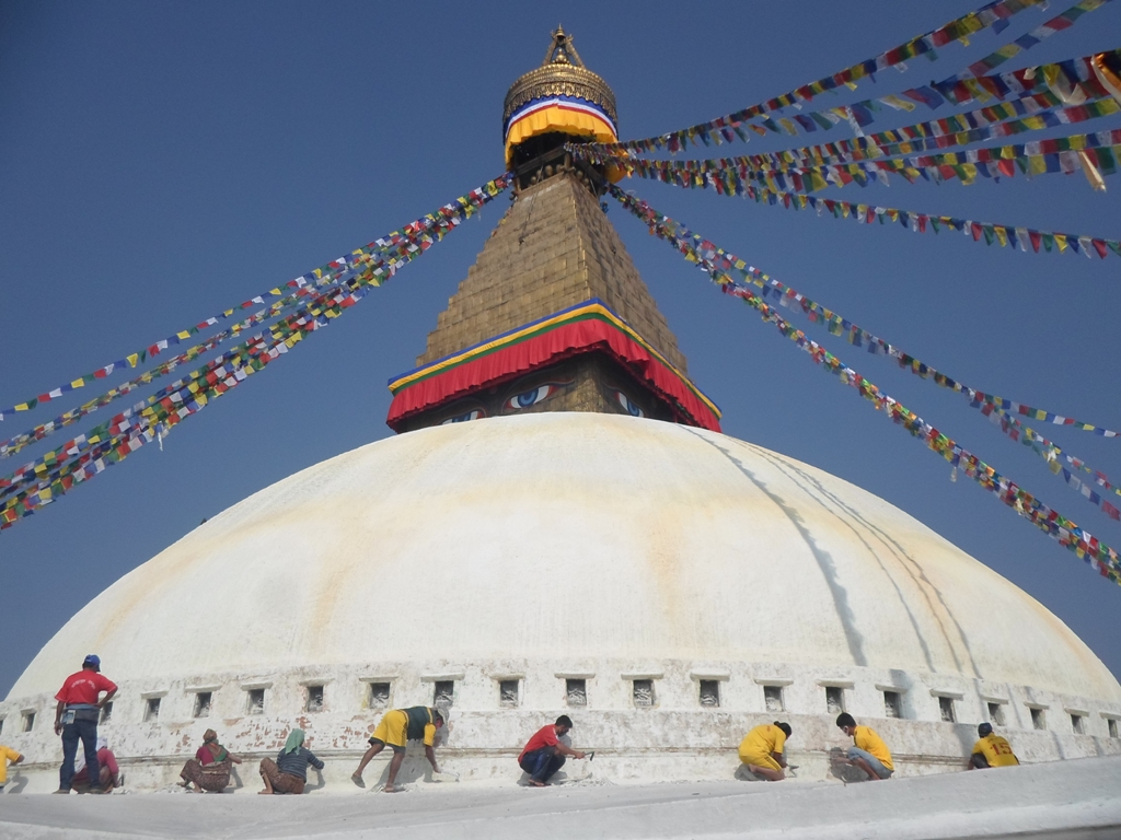 Maintenace of Boudha Stupa.JPG